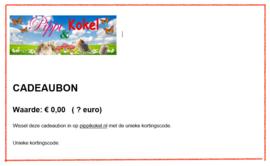Cadeaubon Pippi & Kokel naar keuze  5, 7,50, 10, 15, 20 of 25 euro.