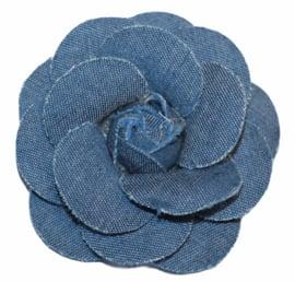 Stoffen jeans bloem 7,5 cm