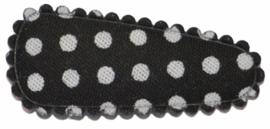 kniphoesje katoen zwart met witte stip 3 cm