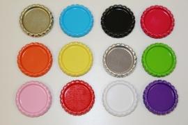 Bottlecaps zonder ringetje voor 25 mm flatback - 12 kleuren