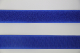 Klittenband 25 mm koningsblauw per 0,5 meter