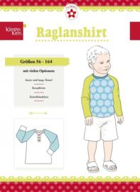 Farbenmix papier patroon Klimperklein, Raglanshirt maat 56-164