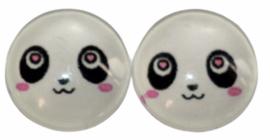 12 mm glascabochon panda