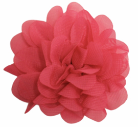 Stoffen bloem 7 cm hardroze