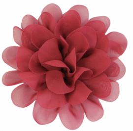 Stoffen bloem 10 cm bordeauxrood