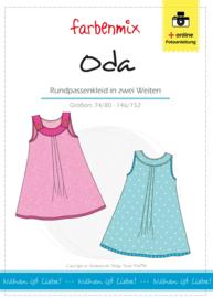 Farbenmix papier patroon  Oda jurk 74/80 - 146/152