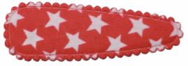 kniphoesje katoen rood met witte sterren 5 cm