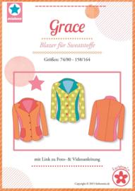 Farbenmix papier patroon Grace maat 74 - 164