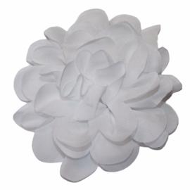 Stoffen bloem 10 cm wit