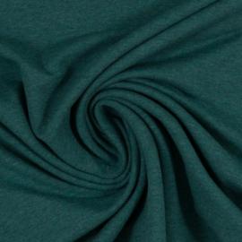 Brushed joggingstof: melange groen (Swafing kleur 1563), per 25 cm
