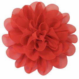 Stoffen bloem 10 cm rood