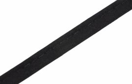 Paspelband katoen zwart, per 0,5 meter