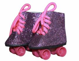 Rolschaatsjes paars-roze voor babyborn