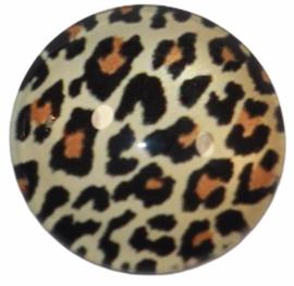 Glascabochon 20mm panterprint