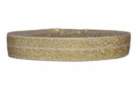 Elastisch band goud glitter 16 mm per 0,5 meter