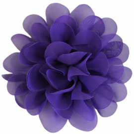 Stoffen bloem 10 cm paars
