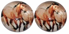 12 mm glascabochon paarden per 2 stuks