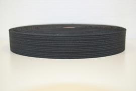 Soepel boxershort elastiek zwart 30 mm breed: per meter