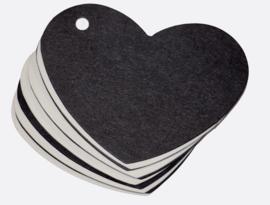Label hart zwart/wit 65x 50 mm: per 10 stuks