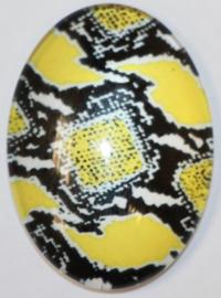 Glas flatback cabochon animal print 18 x 25 mm