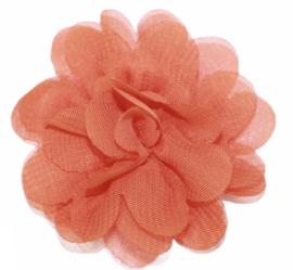Stoffen bloem 5 cm oranje