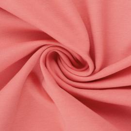 Boordstof: Zalmroze (Swafing kleur 635) Rondgebreid 48 cm. Per 25 cm