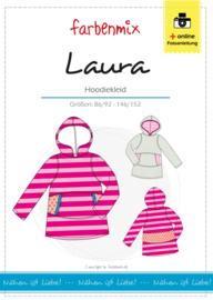 Farbenmix papier patroon jurkje Laura 86/92 - 146/152