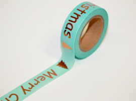 Masking tape mint/copper  merry Christmas