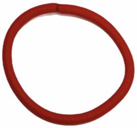 Haarelastiekje rood +/- 45 mm, dikte 4mm