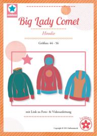 Farbenmix papier patroon big lady comet, hoodie 44-56