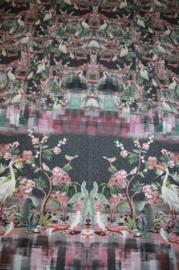 Panel digitale tricot (dames): Witte reiger 200x150 cm Stenzo