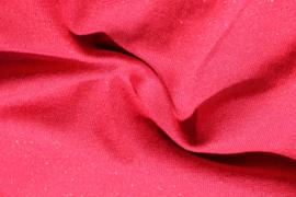 Rood met rode glitter boordstof. Rondgebreid 45 cm. Per 25 cm