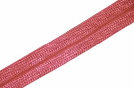 Elastisch biaisband/vouwtres JAQUARD kleur fuchsia 20 mm per 0,5 meter