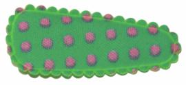 kniphoesje katoen mintgroen met roze stip 3 cm