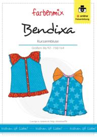Farbenmix papier patroon meiden blouse Bendixa  86/92 -158/164