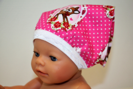 Bandana babyborn roze hertjes