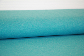 Tricot: melange  turquoise (Swafing), per 25cm