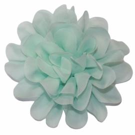 Stoffen bloem 10 cm mint