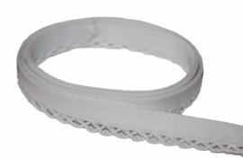 Biaisband met kant wit per meter