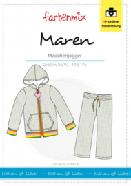 Farbenmix papier patroon Maren, meisjes joggingpak 86/92-170/176