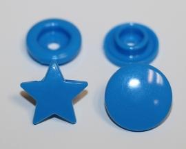 Kam snap STER kleur helder blauw glanzend per 5 stuks