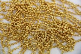 Bolletjes ketting goud kleur 50cm,60cm,70cm,80cm,90cm of 100cm 2,4mm