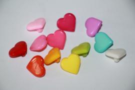 Hartjes knoop in diverse kleuren 15x14 mm