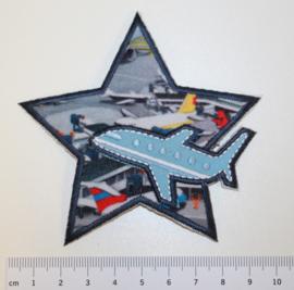 Applicatie ster met vliegtuig