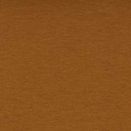 Boordstof: goudbruin (Swafing kleur 175 herfst/winter 21-22 ) Rondgebreid 48 cm. Per 25 cm