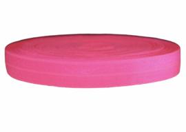 Elastisch band neon knal-roze 16 mm per 0,5 meter