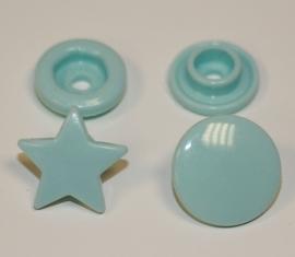 Kam snap STER kleur mintblauw glanzend per 5 stuks