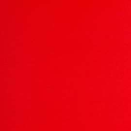 Rode boordstof. Rondgebreid 48 cm. Per 25 cm