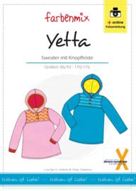 Farbenmix papier patroon sweater met knoopjes Yetta jongens en meisjes (downsyndroom)  86/92 - 170/176