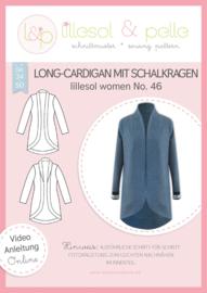 Lillesol & Pelle women lang vest met sjaalkraag maat 34 t/m 50